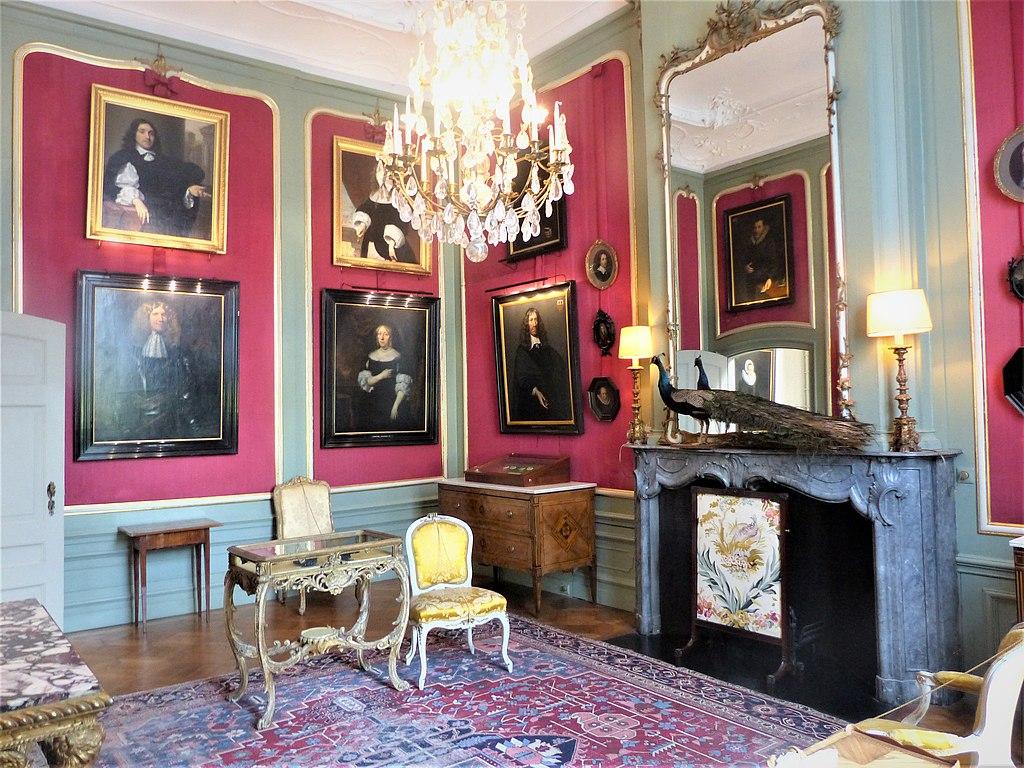 Chambre du musée Van Loon dans le quartier des Canaux d'Or d'Amsterdam - Photo d'Elekes Andor.