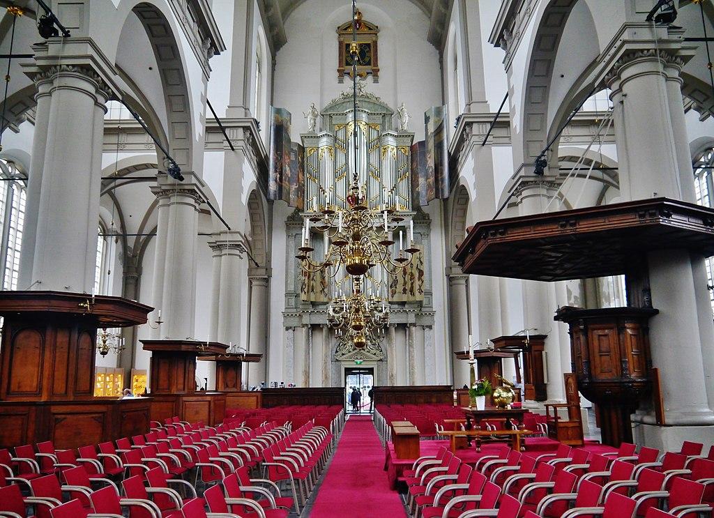 A l'intérieur de l'église de Westerkerk à Amsterdam, l'une des églises les plus importantes des Pays-Bas - Photo de Zairon