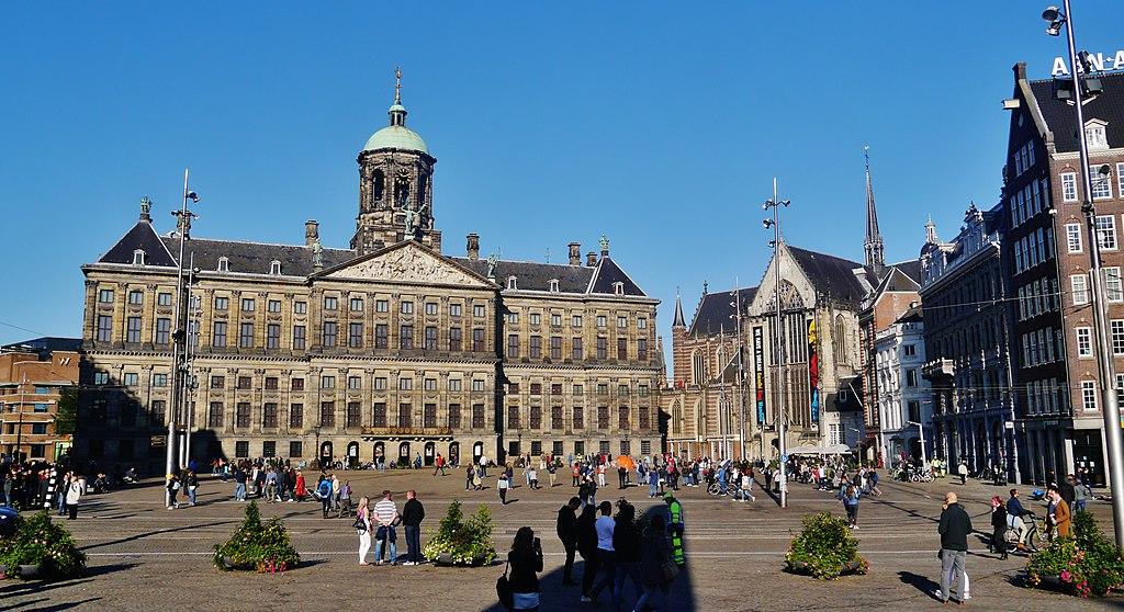 Place de Dam et Palais Royal dans la Vieille Ville d'Amsterdam - Photo de Zairon