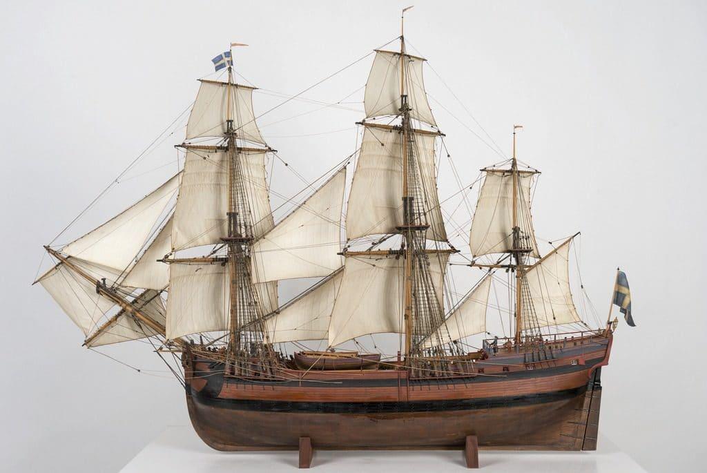 Maquette au Musée maritime de Stockholm :Sjöhistoriska museet