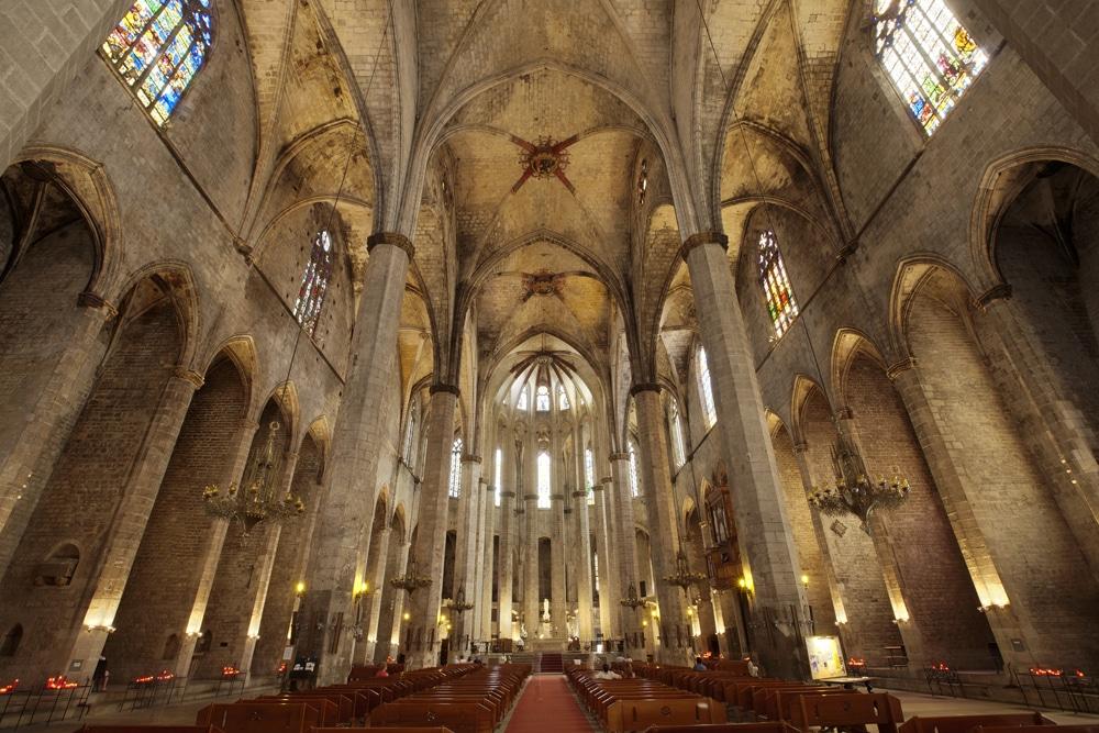Eglise gothique Santa Maria del mar à Barcelone [Ribera]