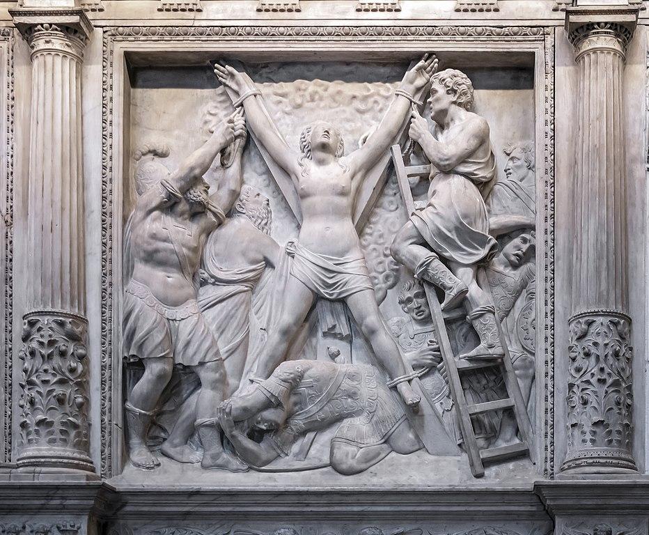 Cathédrale de Barcelone : Crucifixion de St.Eulalie par Pedro Villar.