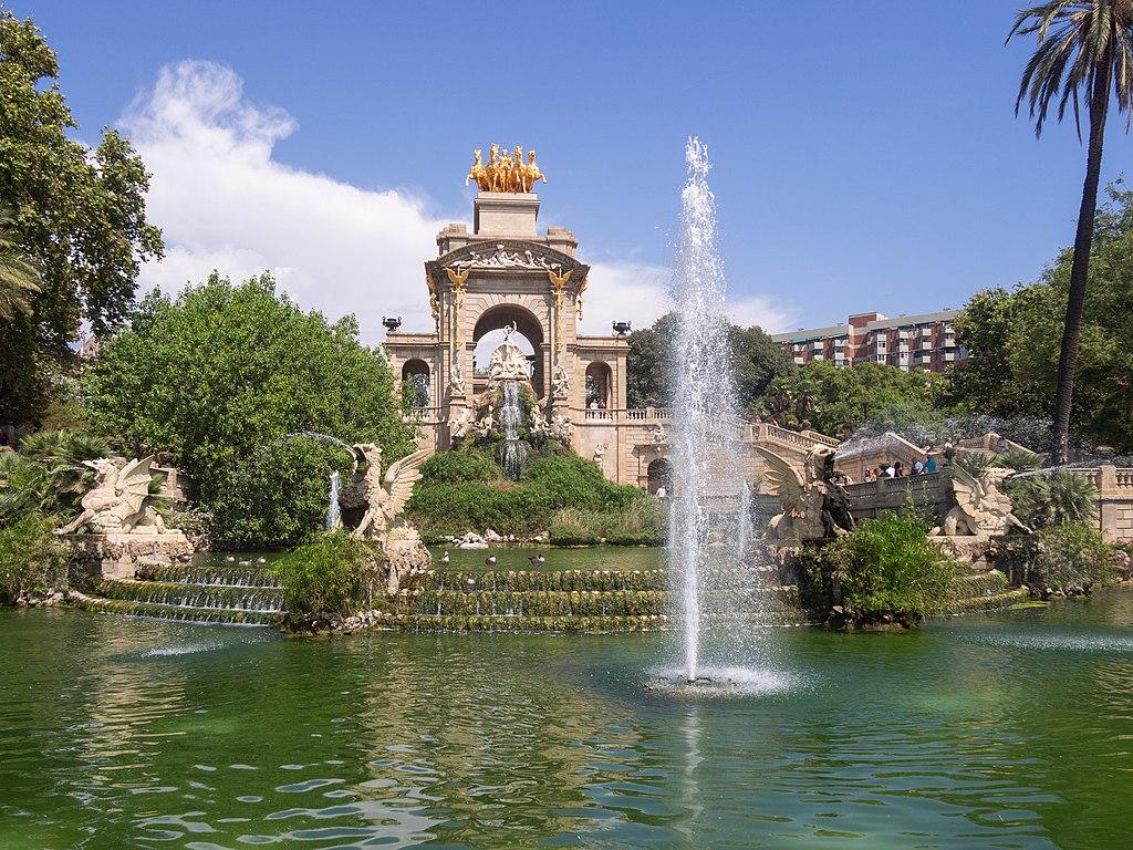 Fontaine gigantesque dans le parc de la Ciutadella dans le quartier de la Ribera à Barcelone - Photo de C Messier