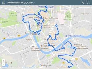 Itinéraires à Cracovie pour un week-end de 2, 3, 4 jours