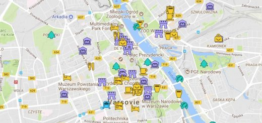 Carte détaillée de Varsovie