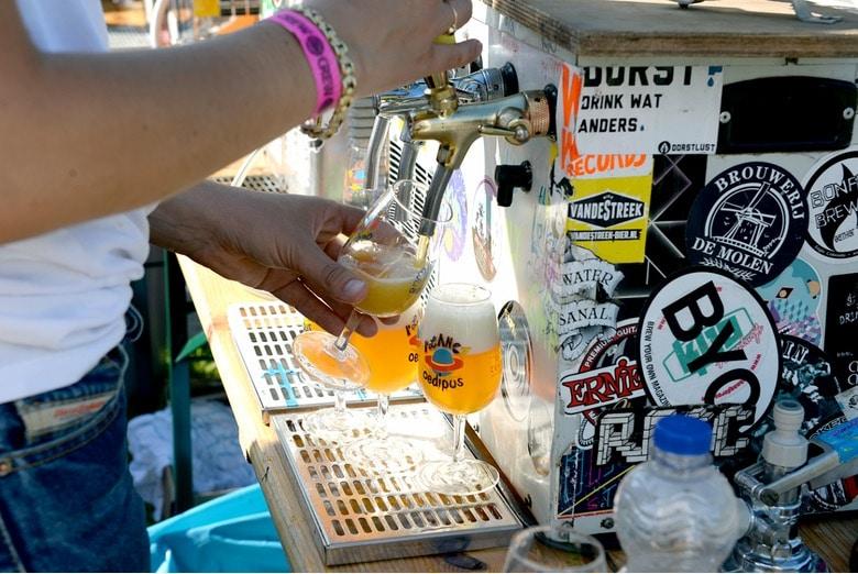 Festival de musique et de bière Oedipus dans le nord d'Amsterdam.