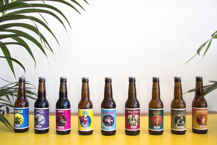 Gamme de bières de la microbrasserie Two Chefs Brewing d'Amsterdam.