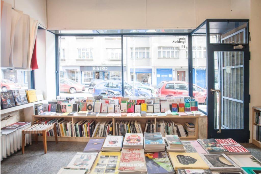 Librairie Page Five à Prague.