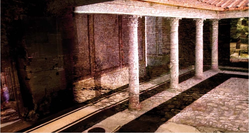 > Reconstitution multimédia des villas romaines au Palazzo Valentini à Rome.