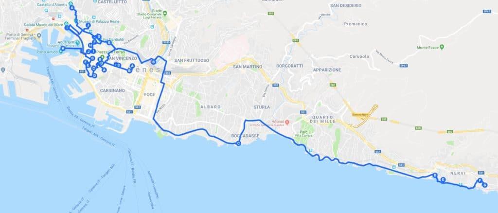 Itinéraires à Gênes pour un week-end de 2, 3, 4 jours