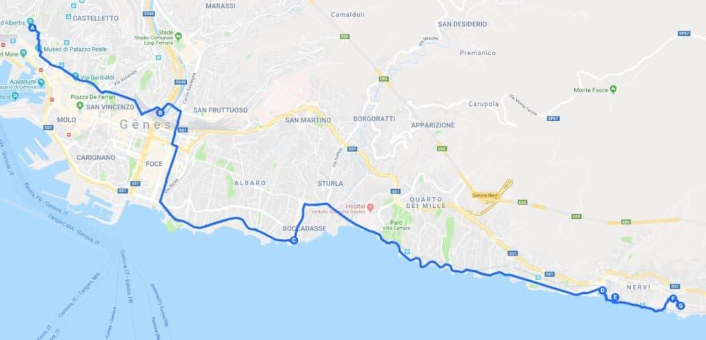 > Jour 3 : Proposition de parcours pour découvrir Gênes.
