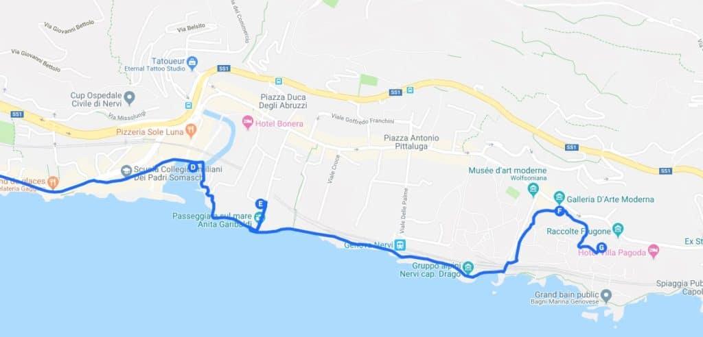 > Jour 3 : Proposition de parcours pour visiter Gênes.