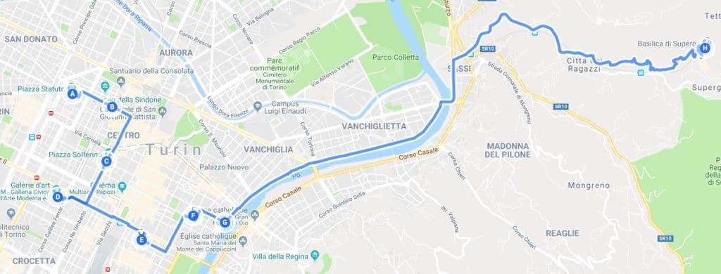 > Jour 3 : Proposition de parcours pour découvrir Turin.