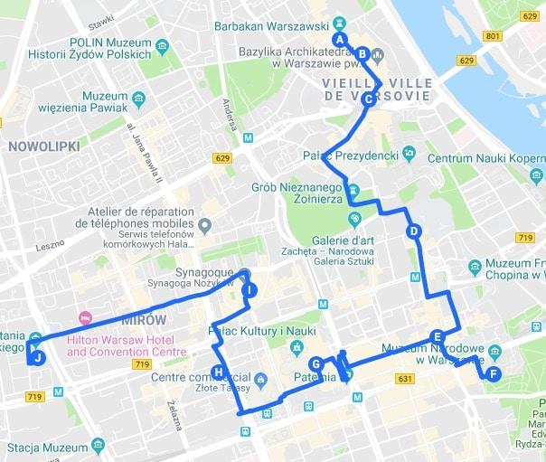 Jour 1 : Proposition d'itinéraires pour découvrir Varsovie.