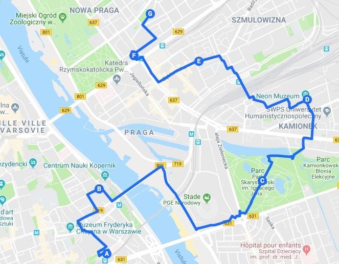 > Jour 3 : Proposition d'itinéraires pour découvrir Varsovie.