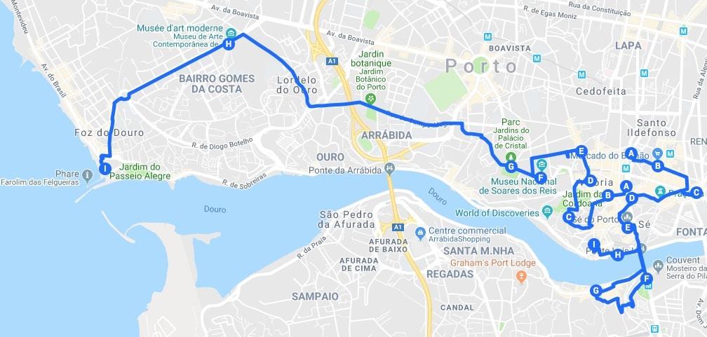 Itinéraires à Porto pour un un week-end chouette