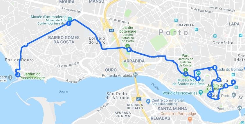 > Jour 2 : Proposition d'itinéraires pour découvrir Porto.