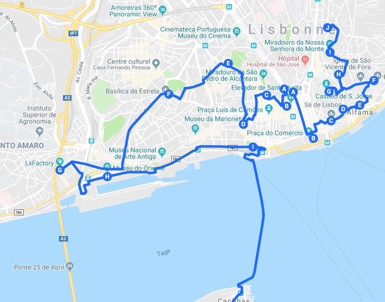 Itinéraires à Lisbonne pour un week-end chouette :)