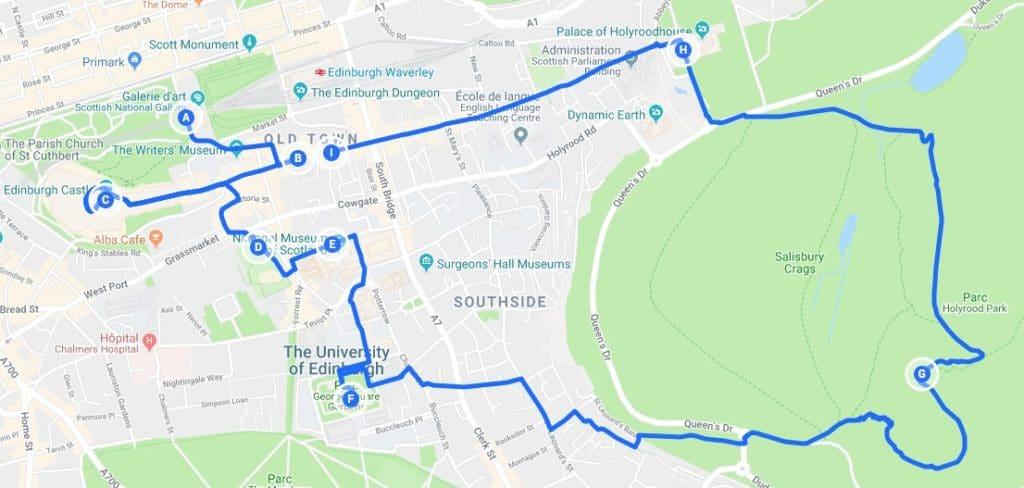 > Jour 2 : Proposition d'itinéraires pour découvrir Edimbourg.
