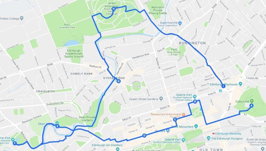 > Jour 1 : Proposition d'itinéraires pour découvrir Edimbourg.