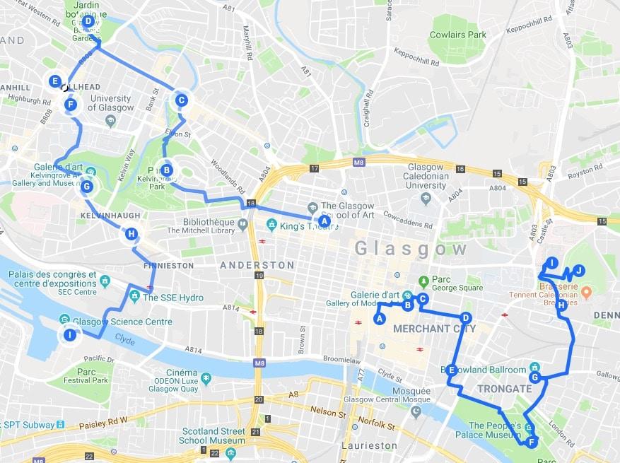Itinéraires à Glasgow pour un week-end chouette