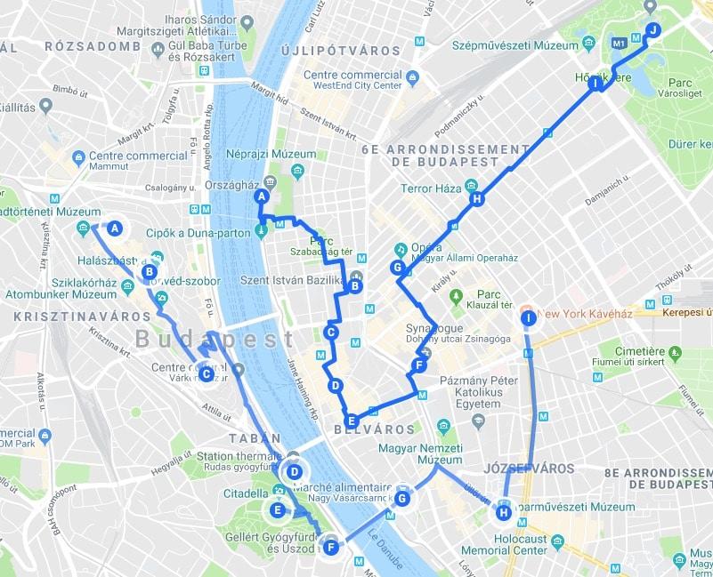 Itinéraires à Budapest pour un week-end chouette