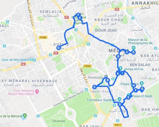 Itinéraires à Marrakech pour un week-end