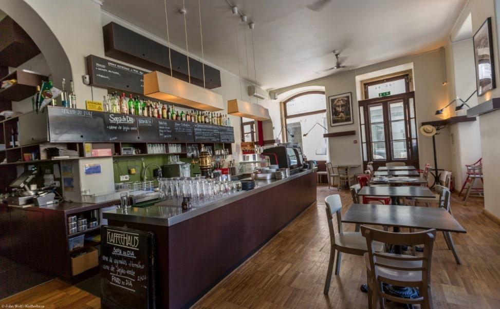 Kaffeehaus, café autrichien à Lisbonne dans le quartier de Baixa.