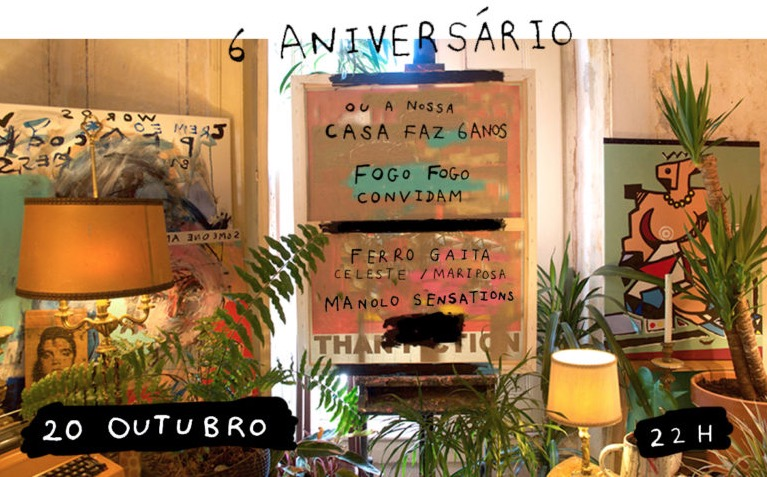 Affiche d'un concert à la Casa Independente à Lisbonne.