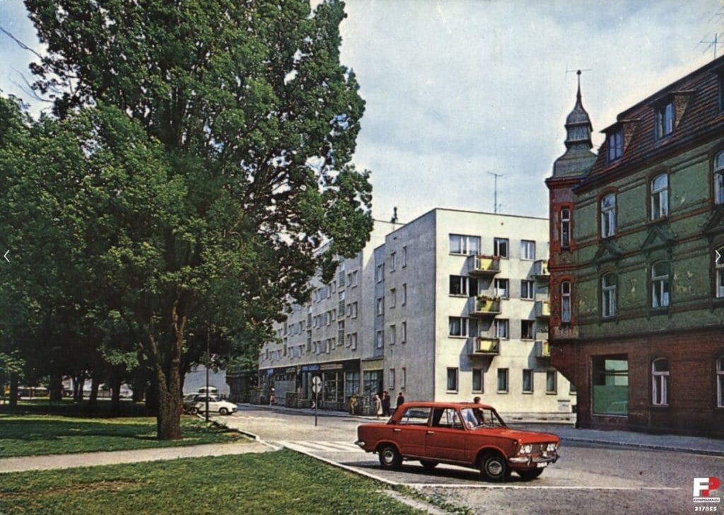 Żary dans les années 1970. Photo de J. Osuchowski trouvé sur fotopolska.eu