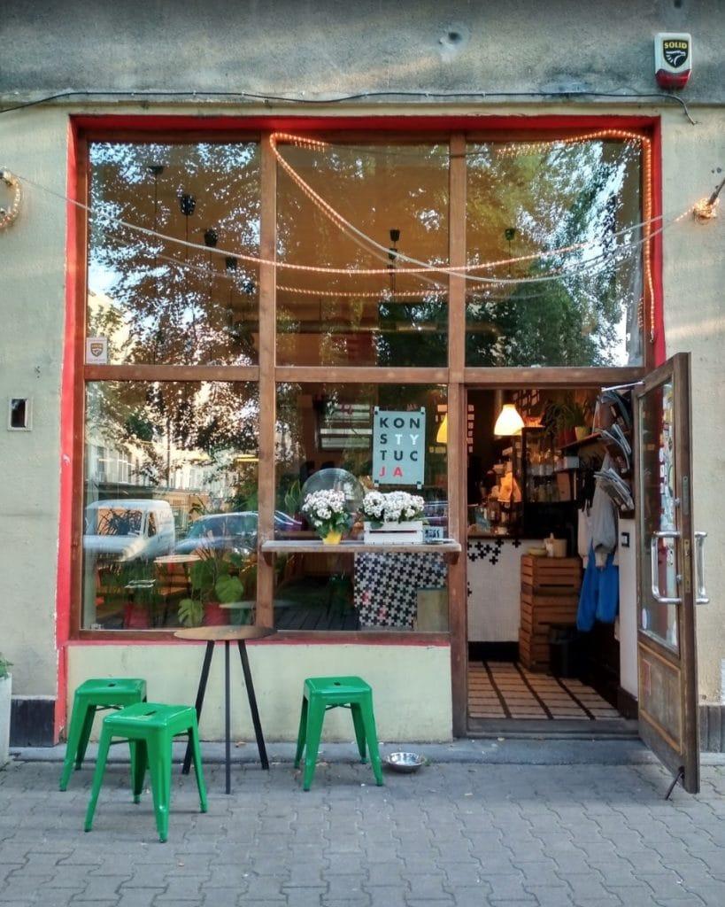 Café Filtry dans le quartier de Filtry/Ochota à Varsovie.