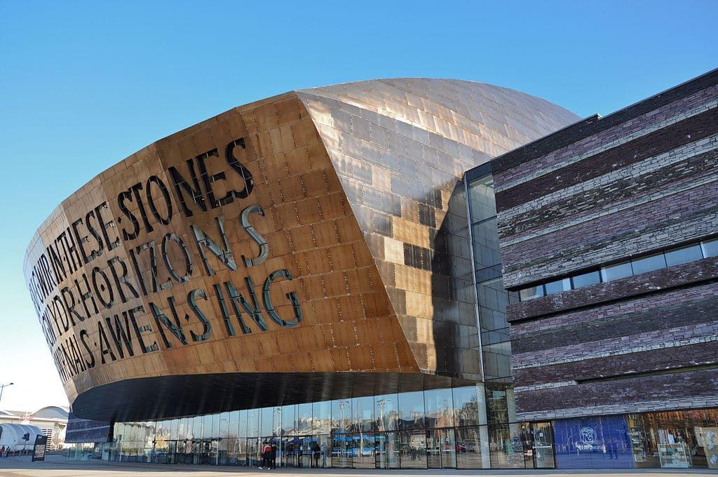 Cardiff Millennium Centre dans la Cardiff Bay - Photo de Gordon Plant