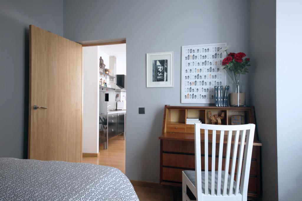 Une des chambres de l'appartement Casas da Viola à Faro.