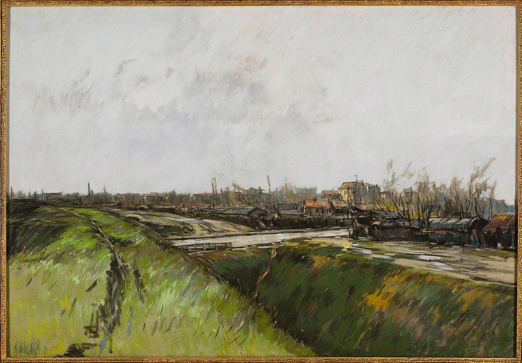 Paysage de quartier de banlieue de Paris par Stanisław Wyspiański (1893).