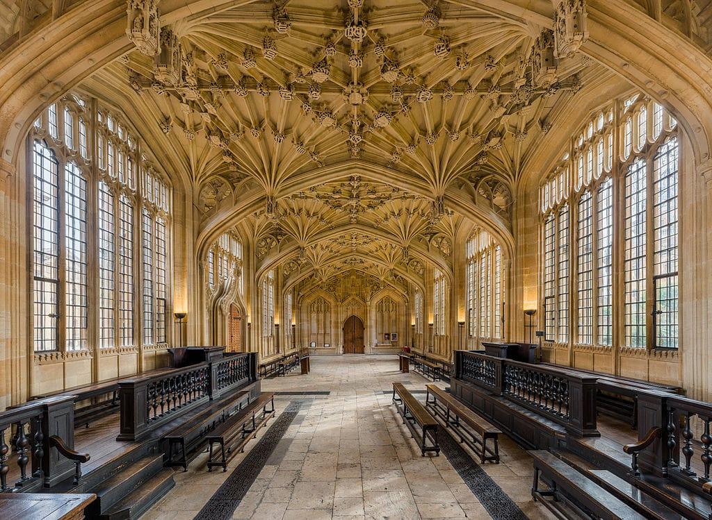Lieux de tournage d'Harry Potter : Divinity School dans la bibliothèque Bodleian Library à Oxford - Photo de Diliff