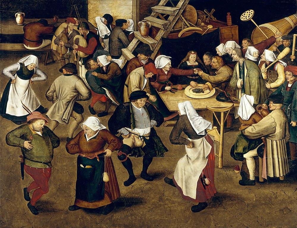 "Oeuvre de Pieter Brueghel II ""Peasant Wedding"" (1620) à la National Gallery of Ireland à Dublin"