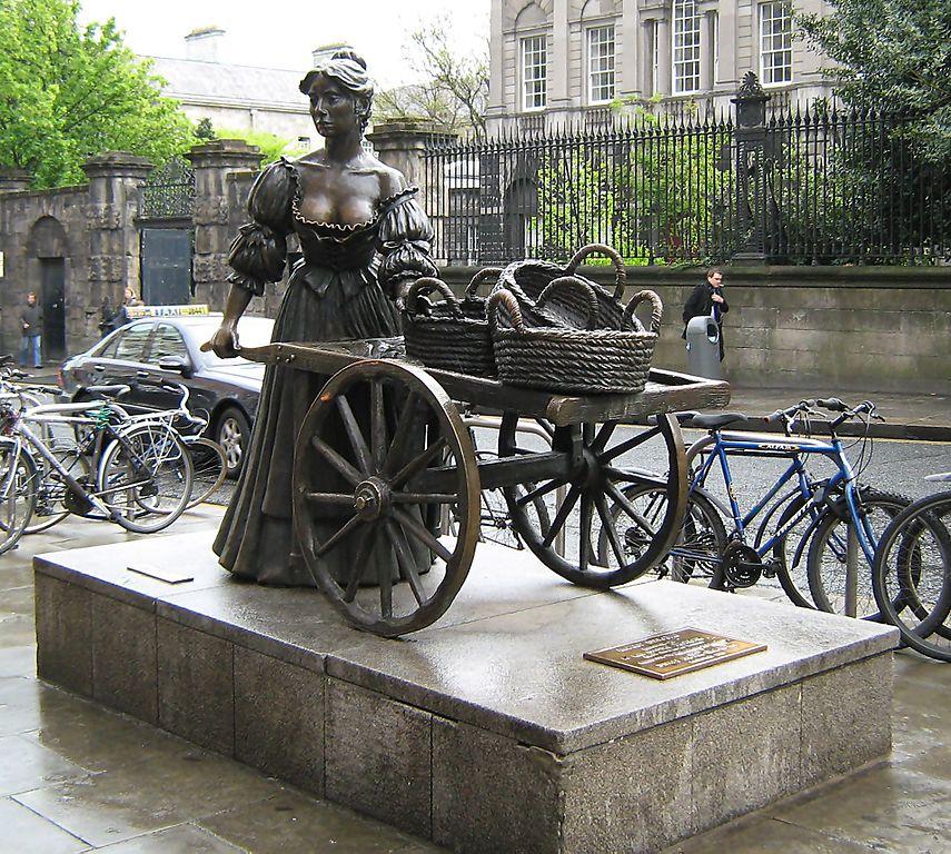 Statue de Molly Malone dans le centre de Dublin - Photo de BKP