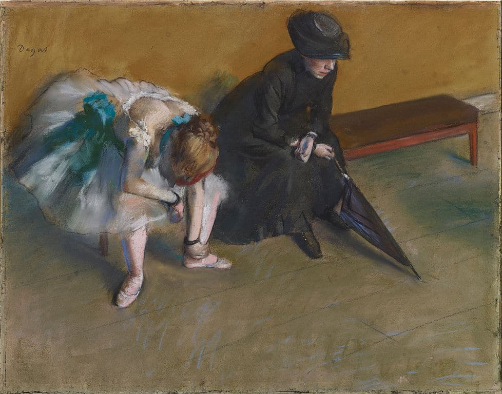 "Edgar Degas ""Attente"" (1882) au Getty Center de Los Angeles."