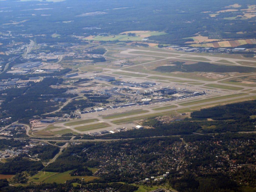 Vue aérienne de l'aéroport d'Helsinki - Photo de Migro
