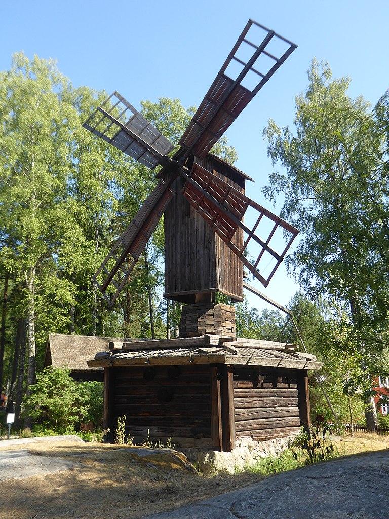 Moulin sur l'île de Seurasaari, parc et musée ethnographique en plein air (Skansen) d'Helsinki - Photo de Nemo Bis