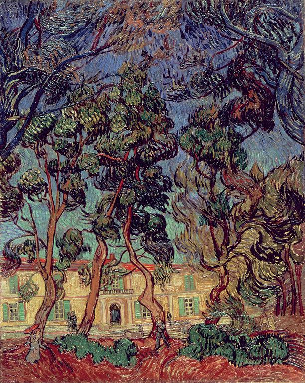 """Peinture de van Gogh """"Hopital à Saint Rémy"""" (1889) au musée d'art Hammer de Los Angeles."""