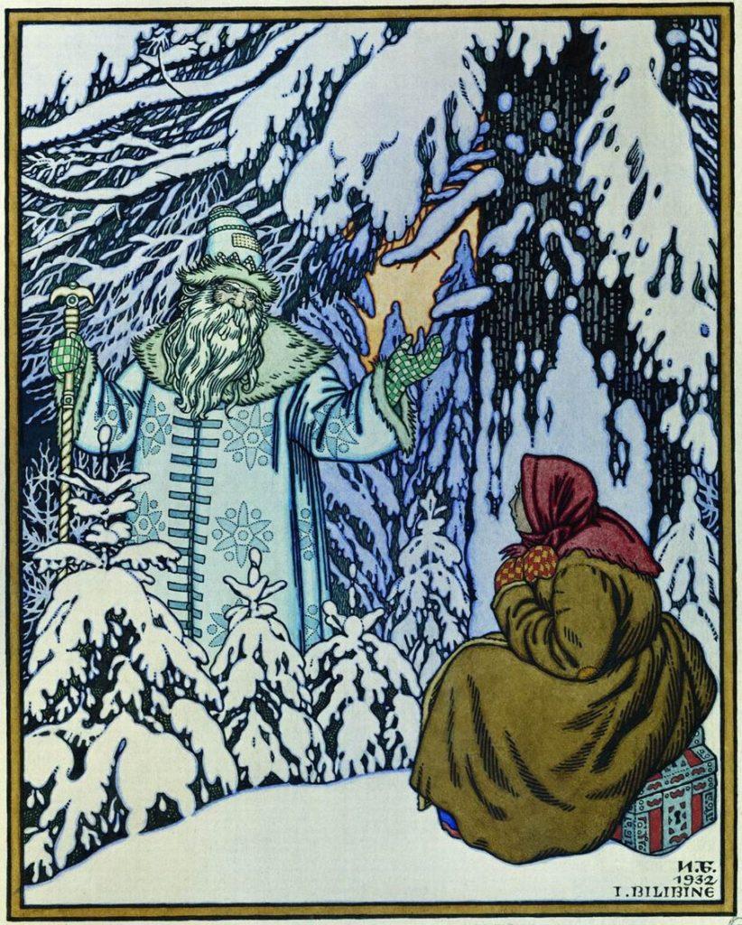Dessin d'Ivan Bilibin (1932).