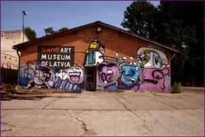 Quartier d'Andrejsala à Riga, ancien port et street art