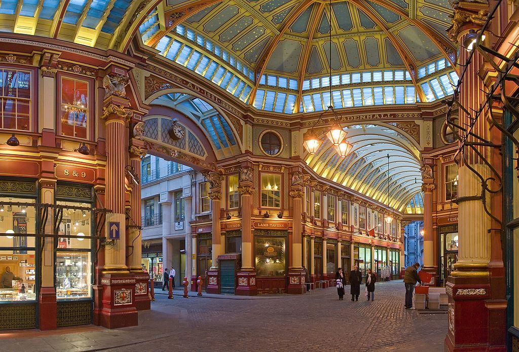 Lieux de tournage d'Harry Potter : Marché couvert de Leadenhall Market à Londres - Photo de Dillif