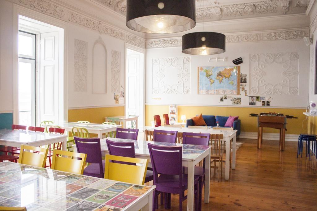 Lisb'on Hostel : Une auberge de jeunesse dans un ancien palais de Lisbonne. C'est coloré et agréable.