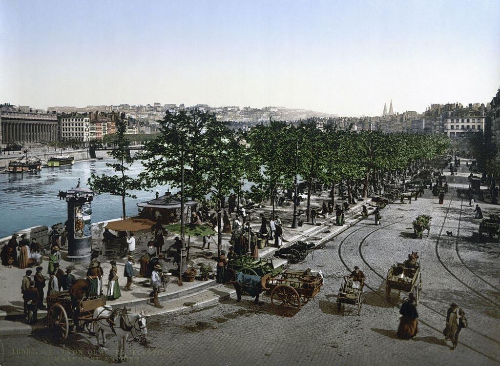 Lyon en 1900 : 13 lieux et magnifiques photos en couleurs