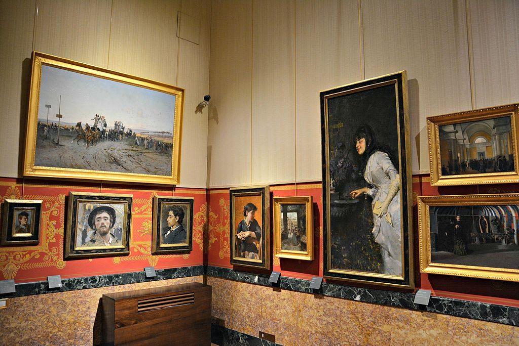 Peinture de la fin du 19e au Palazzo Zevallos à Naples - Photo de Mentnafunangann