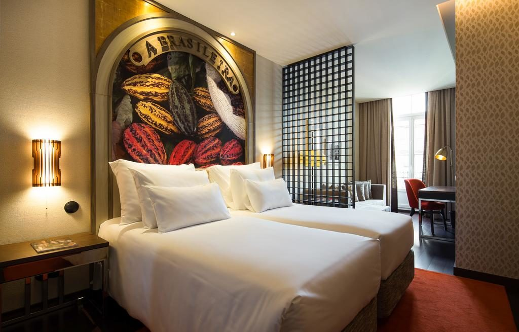 Chambre moderne et très confortable de l'hôtel Pestana Porto - A Brasileira.