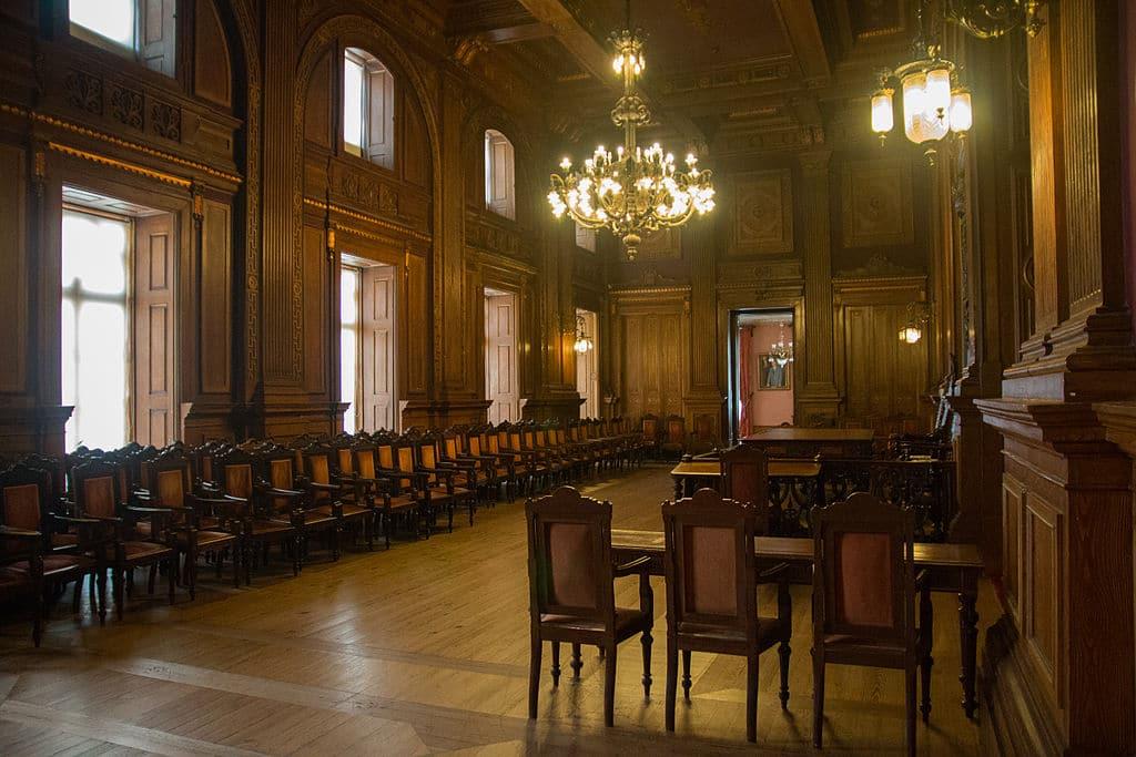 Salle des assemblées au Palais Bolsa de Porto - Photo de Daniel Villafruela