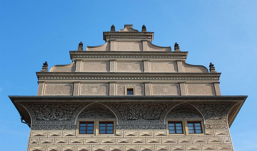 Dans le quartier de Hradcany à Prague : Palais renaissance Schwarzenberg - Photo d'Oyvind Holmstad